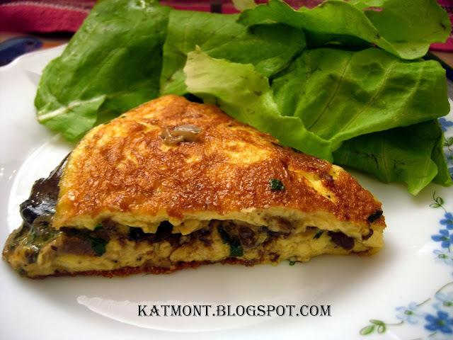 Omelete de cogumelos - Omelette aux cèpes
