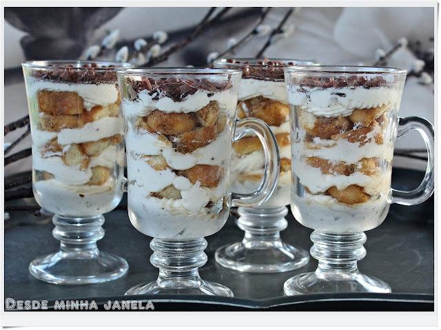 Sobremesa de tiramisú, um clássico da cozinha italiana!!!!