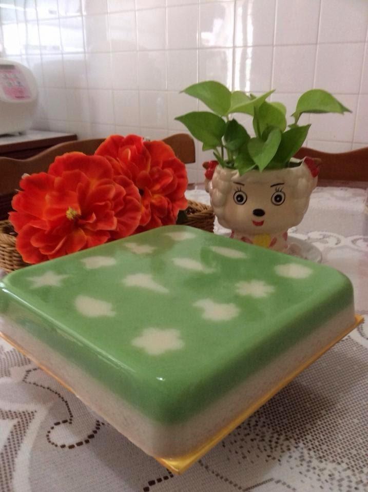 Cendol & Coconut Milk Jelly Cake 珍多椰奶燕菜蛋糕