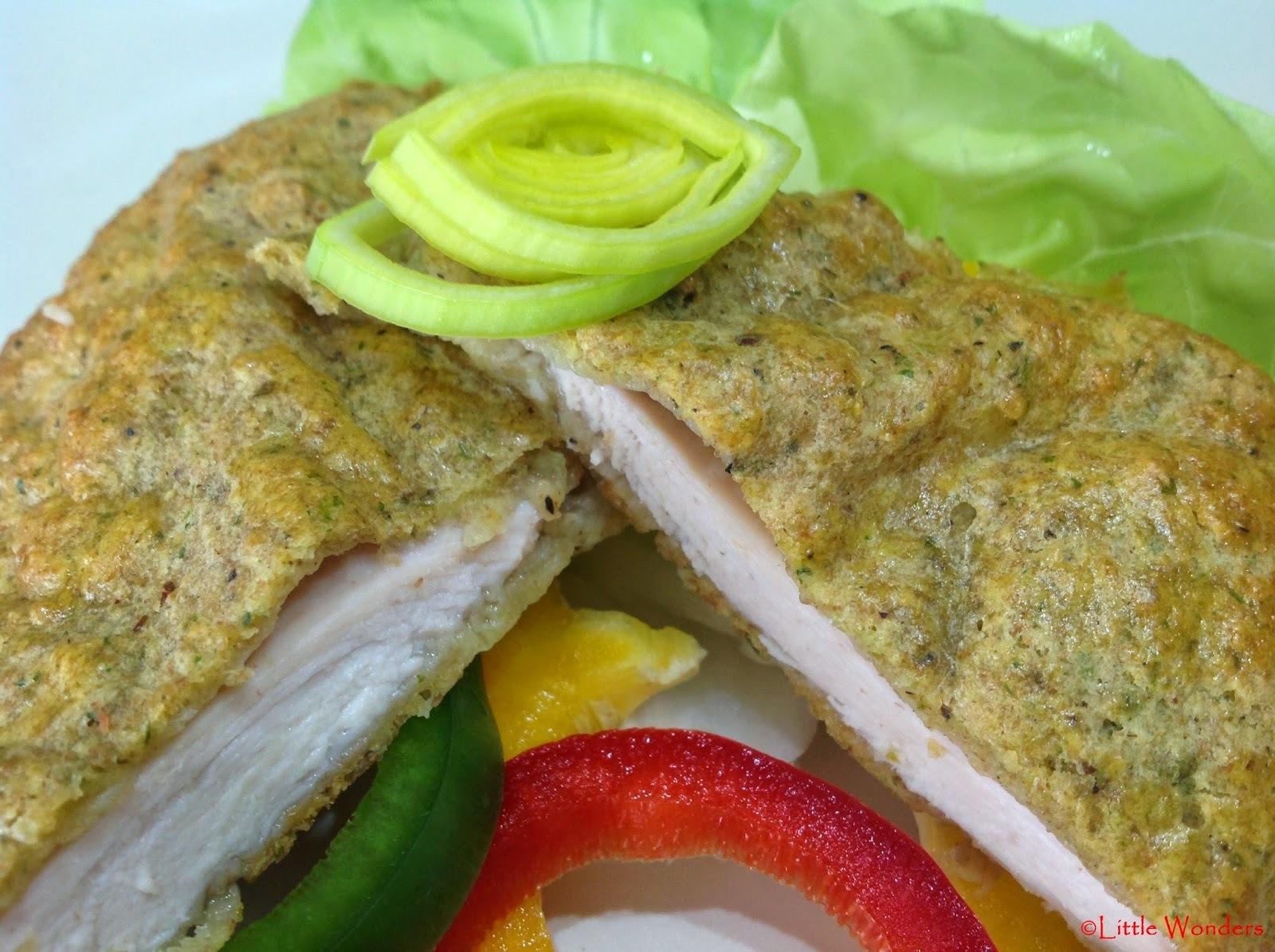 Csirkemell ízes-ropogós burgonyakéregben