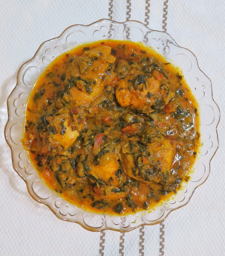 Methi Chicken(chicken with fenugreek leaves)