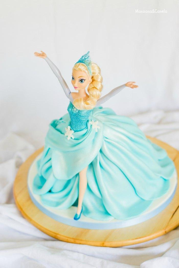 Tarta de muñeca Elsa (Frozen) - Paso a paso
