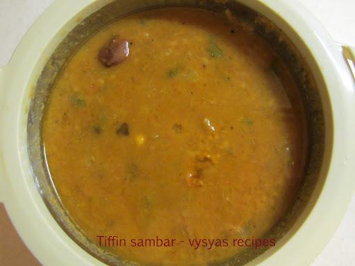Tiffin Sambar - Traditional Tiffin sambar - idli sambar