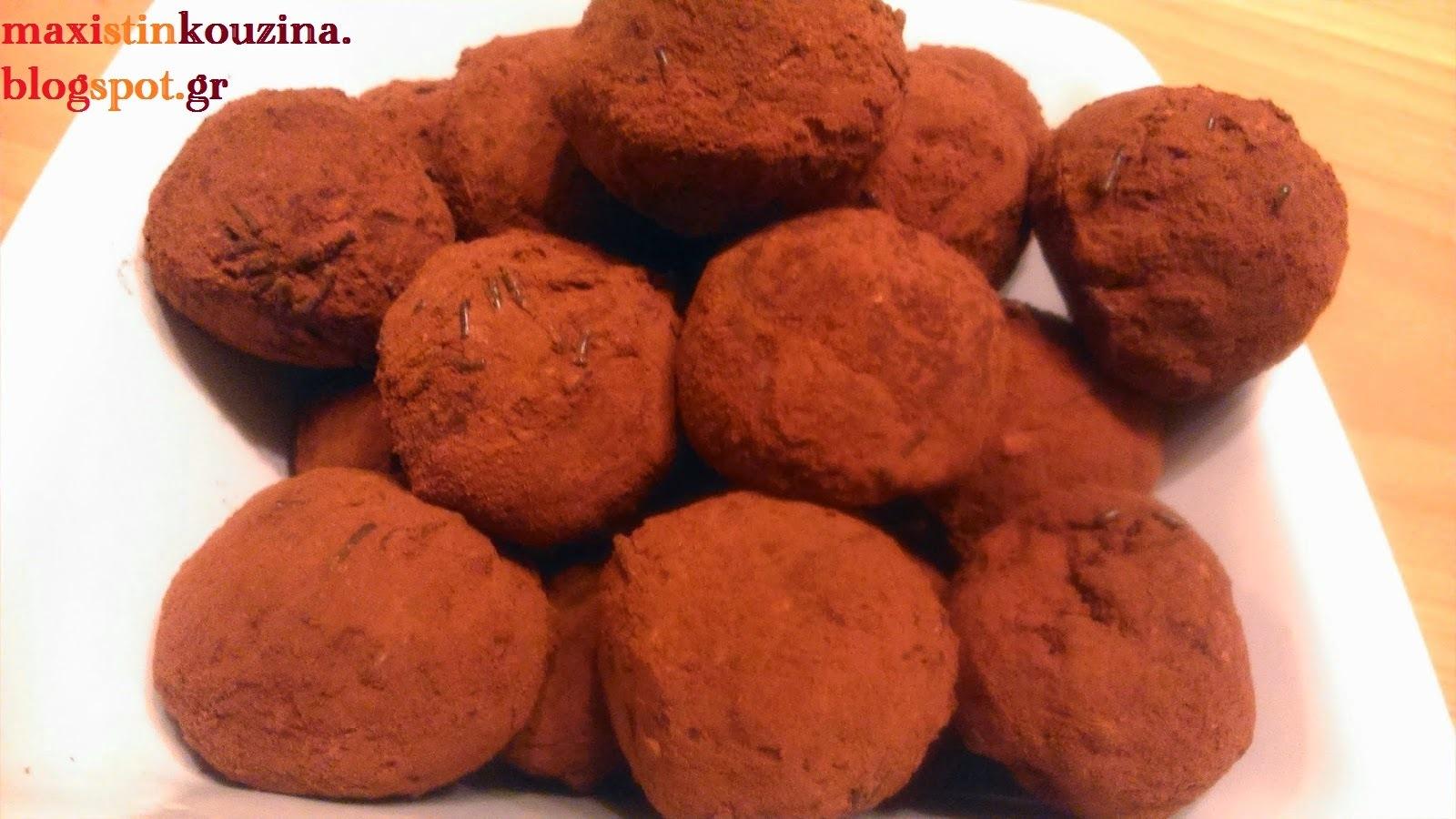 Τρούφες Σοκολατένιες Με Φυτική Σαντιγύ, Μπισκότα Ορεο Και Επικάλυψη Με Κακάο