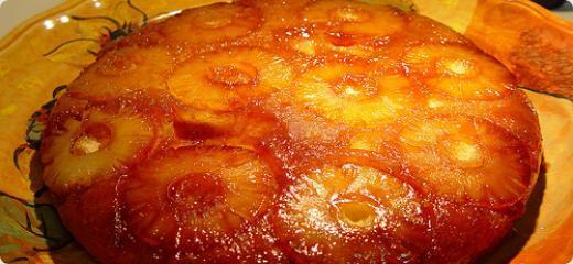 bolo de ananas com caramelo