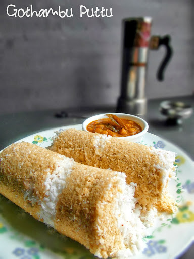 Gothambu Puttu -Kerala Style / Whole wheat Puttu / Whole wheat Steam Cake