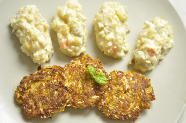 Kapustové fašírky so zemiakovým šalátom