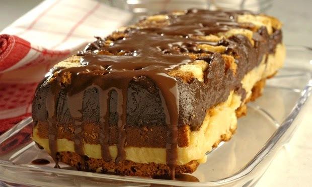 """Não desperdice! Transforme o bolo """"de ontem"""" em um prático pavê"""