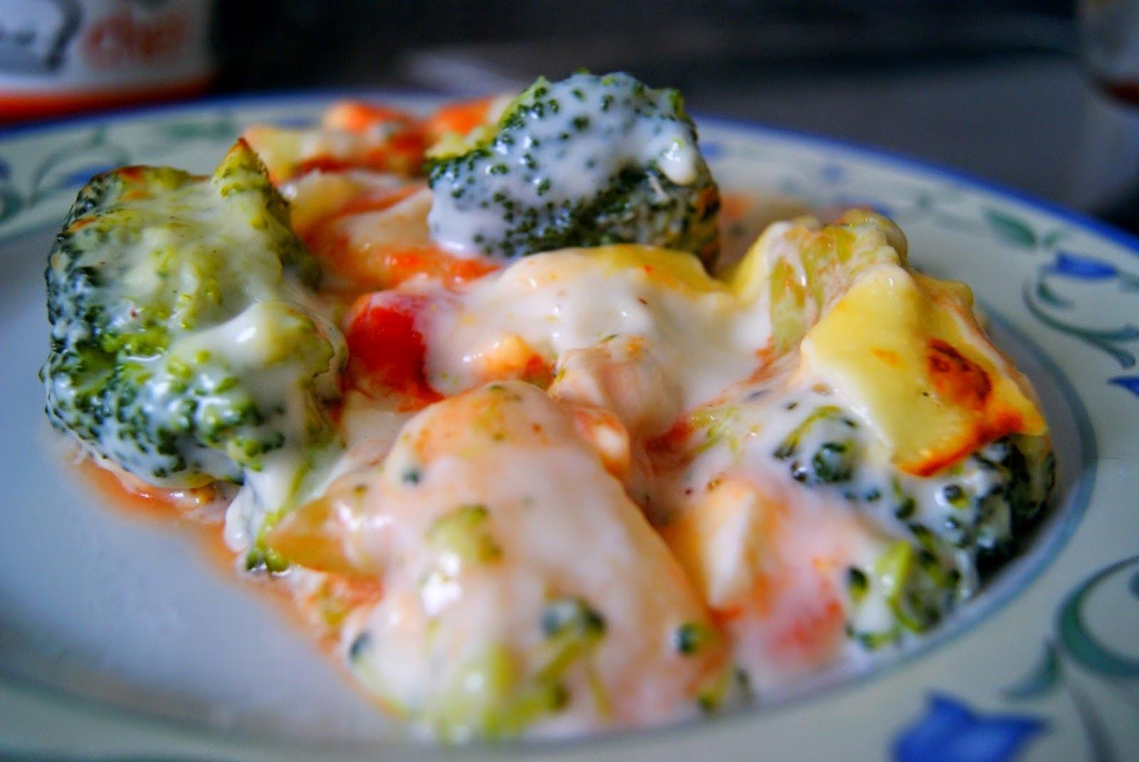 Brocoli con Patata y Huevo a la Bechamel