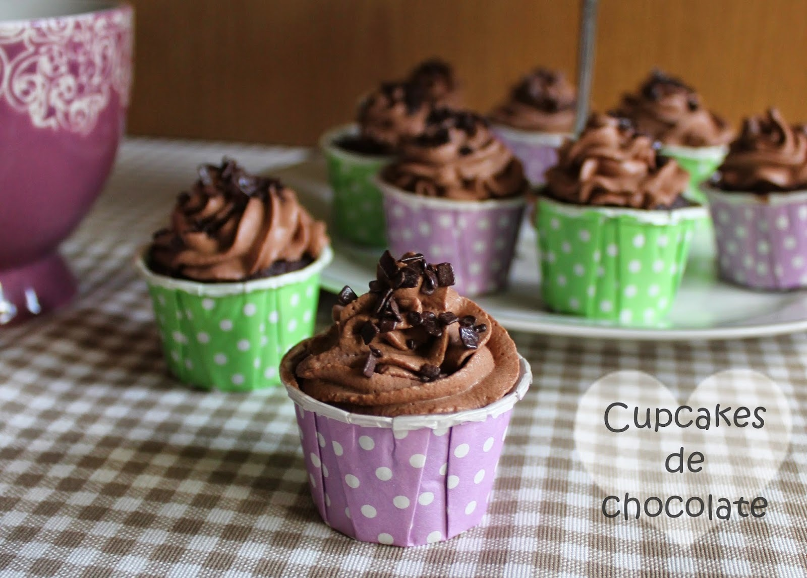 Mini cupcakes de chocolate y trufa