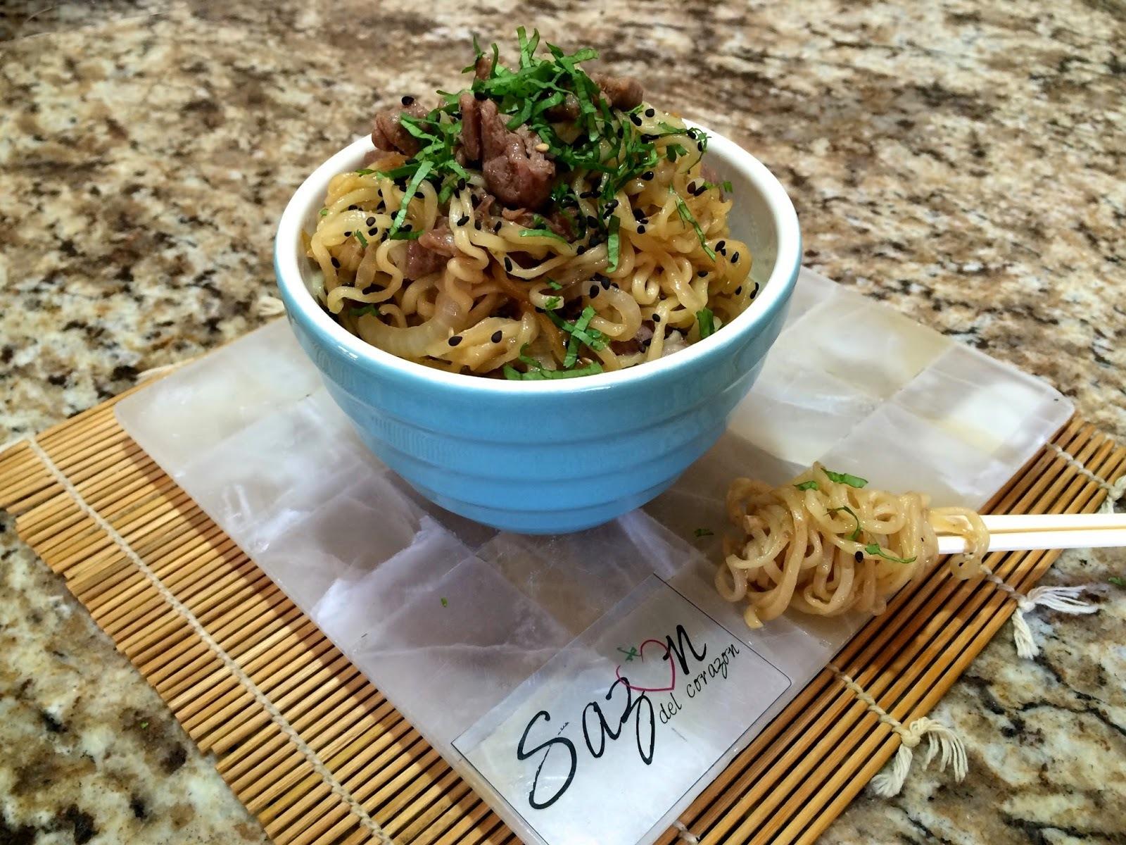 Noodles con arrachera