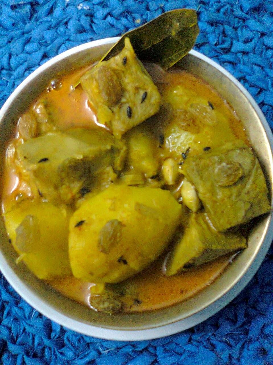 Veg. Raw (Unripe) Jackfruit Curry/ Bengali Enchorer Dalna