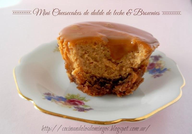 MINI CHEESECAKES DE DULCE DE LECHE Y BROWNIE