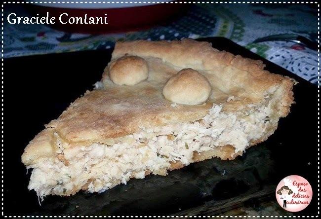 Torta rústica de frango (com creme de leite na massa), de Graciele Contani