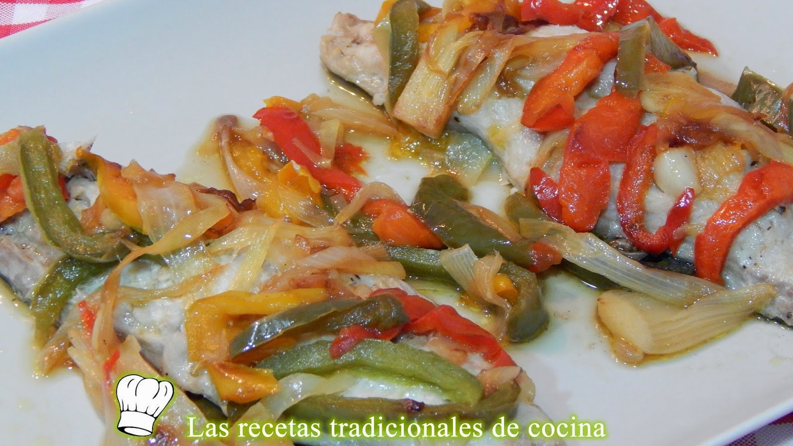 Caballa con verduras en papillote, receta fácil y rápida