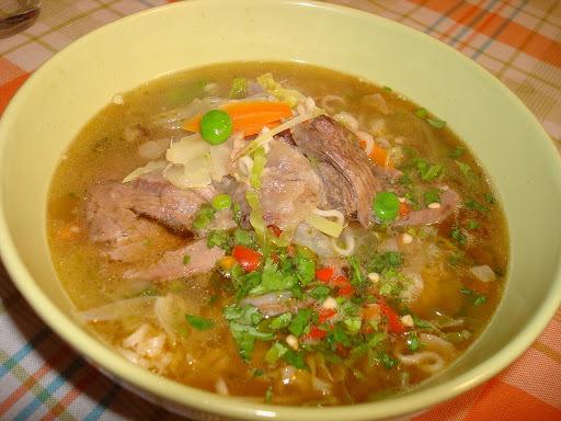 Sopa de morcillo y verduras