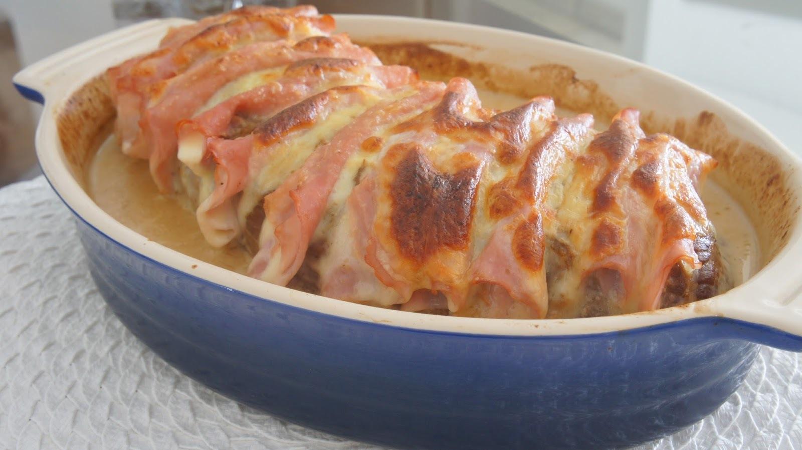 lagarto cozido na panela de pressão e depois vai no forno