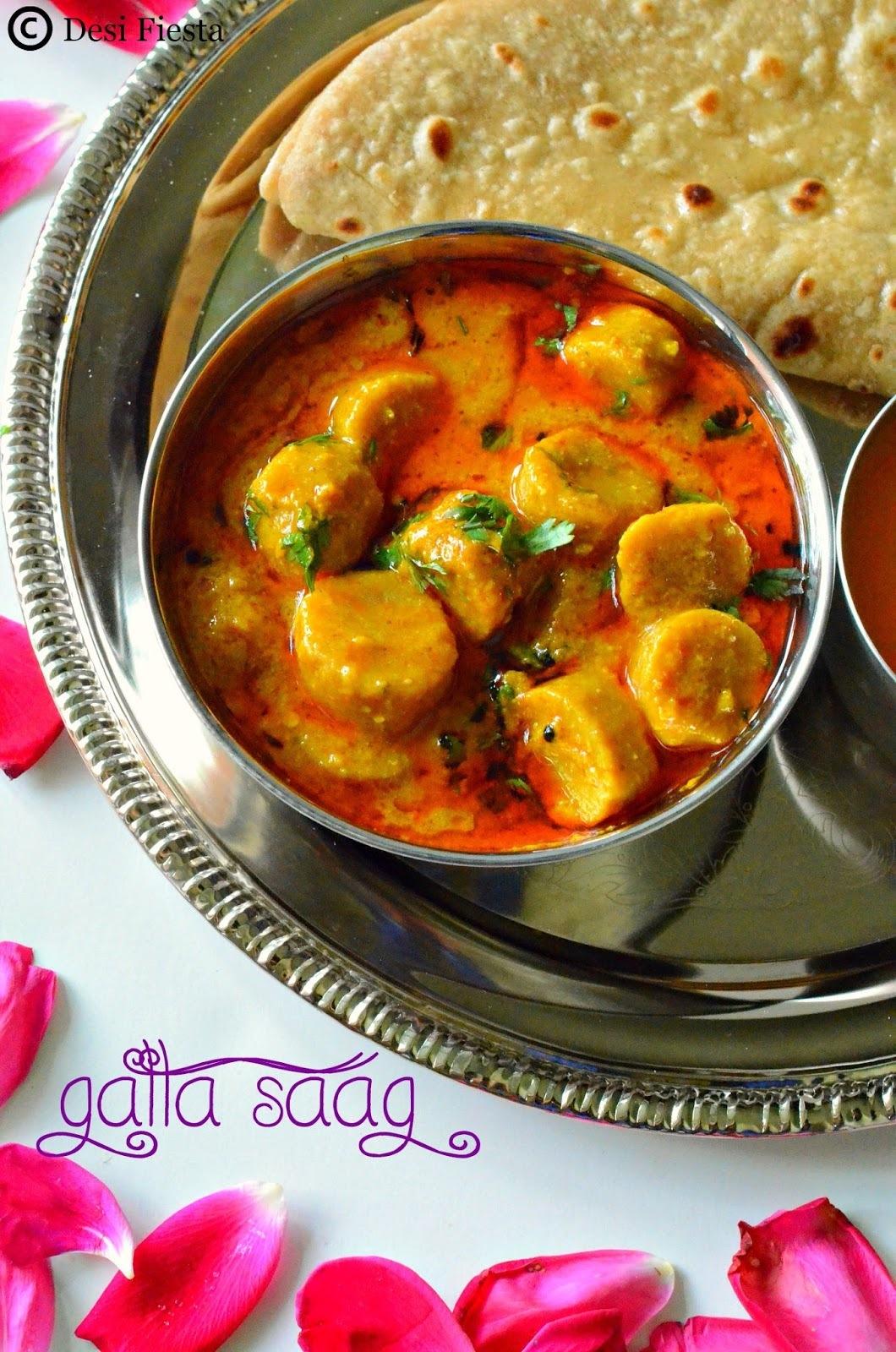 Rajasthani Gatte Ki Sabzi Recipe | Gatta saag |Gatta Ka Saag