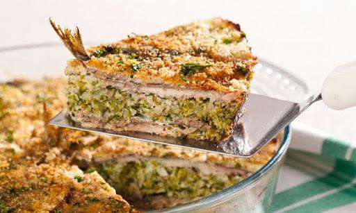 Torta Prática de Sardinha, Brócolis e Queijo