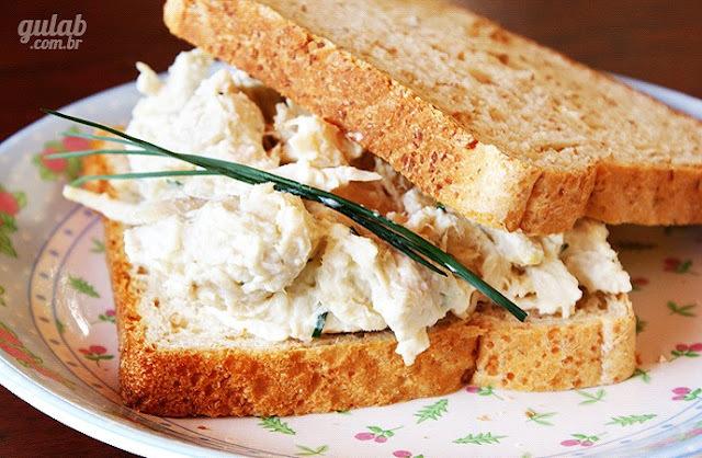 creme de frango para sanduiche natural com creme de alho