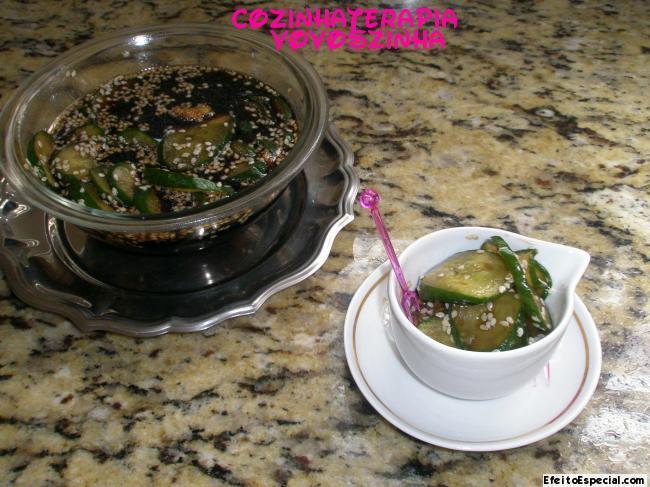 pepino japones em conserva com gengibre