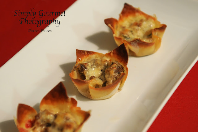 111.  Cheesy Sausage Cups