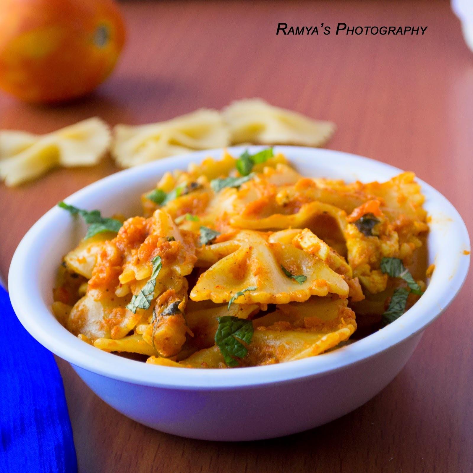 paneer pasta - pasta with paneer - pasta recipes