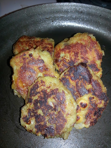 Kumara and Chickpea Patties/Cutlets