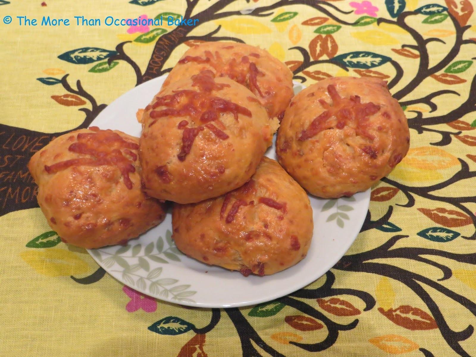 Chorizo and Manchego Cheese Hot Cross Buns