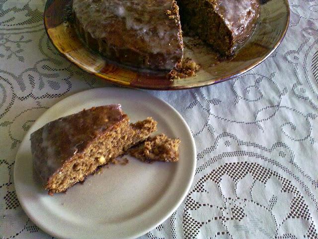 de torta con miel y azucar negra