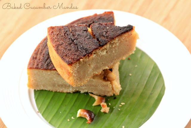 Cucumber Mandas - Traditional Mangalorean Rice & Cucumber Pudding ~ Eggless & Gluten Free!