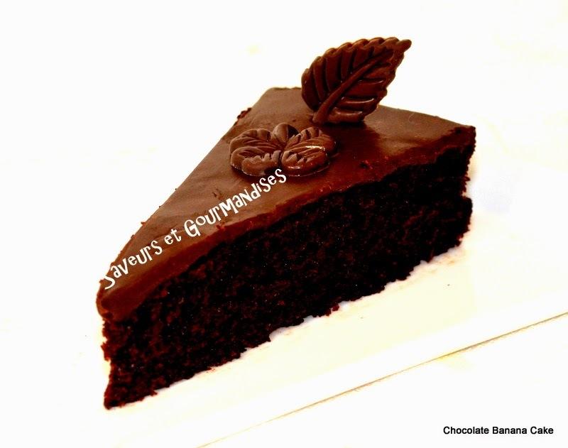 Gâteau Chocolat /Banane. Chocolate Banana Cake.