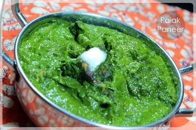 Palak Paneer recipe (पालक पनीर)