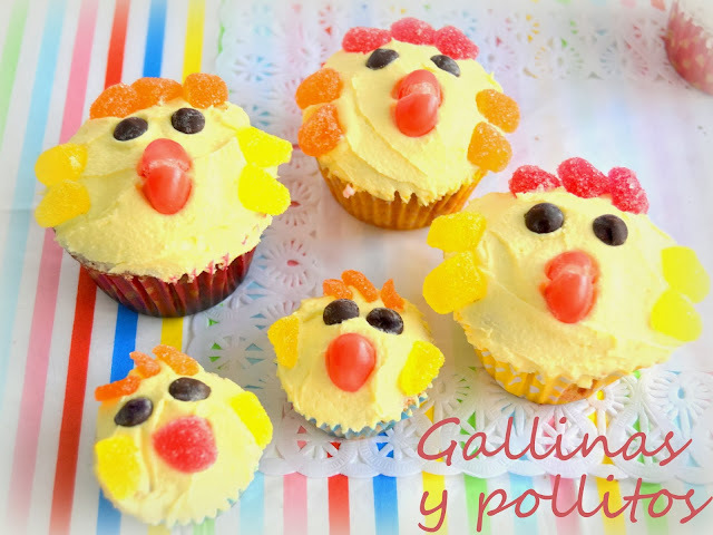 Cup cakes decoradas de animalitos, gallinas, cerditos y ovejas!!