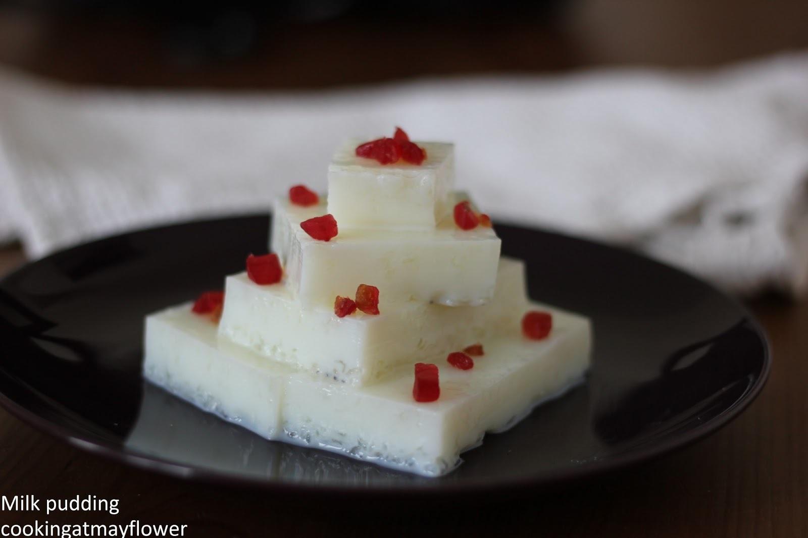 Simple milk pudding (China Grass pudding) (Agar Agar pudding)