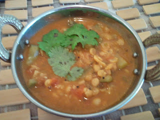Chana dal with Zucchini / Yellow split lentils with Zuchinni