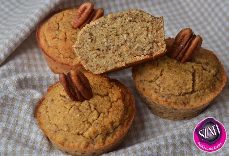 Paleo barát diós muffin