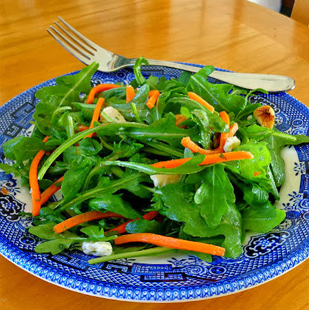 Arugula and Carrot Salad with Walnuts and Cheese