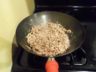 Carne moída com batatinha