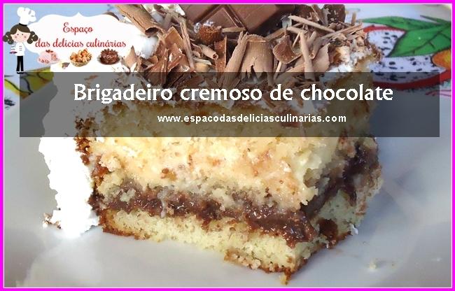 Brigadeiro cremoso de chocolate: recheio para bolo