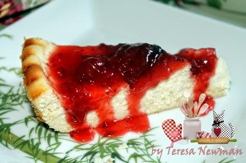 de torta de ricota com morango
