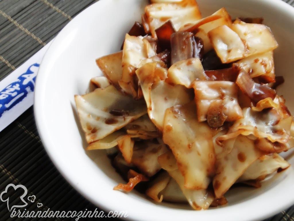 de salada de repolho a moda oriental