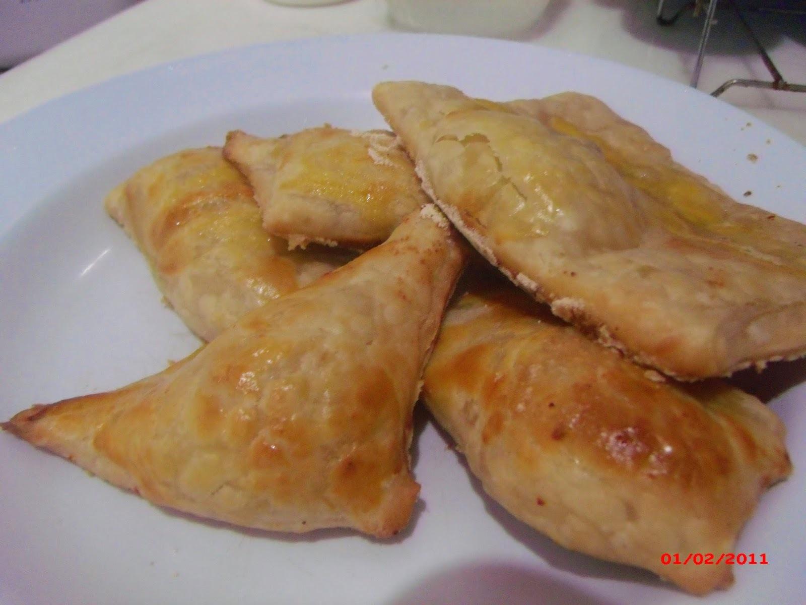 Pastéis Folhados de Gorgonzola e Ricota