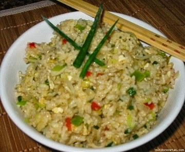 Como hacer arroz frito facil