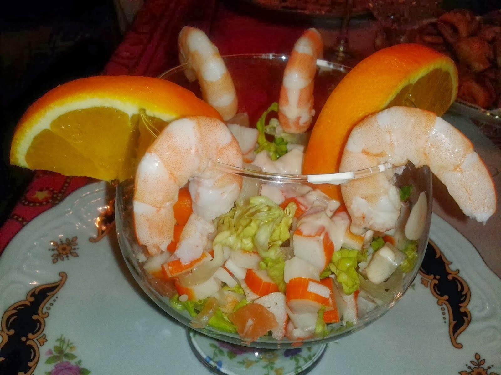 Cóctel de Gambas con Salsa Rosa