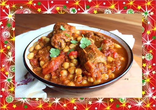 Tagine Marroquina de Carne e Grão-de-Bico