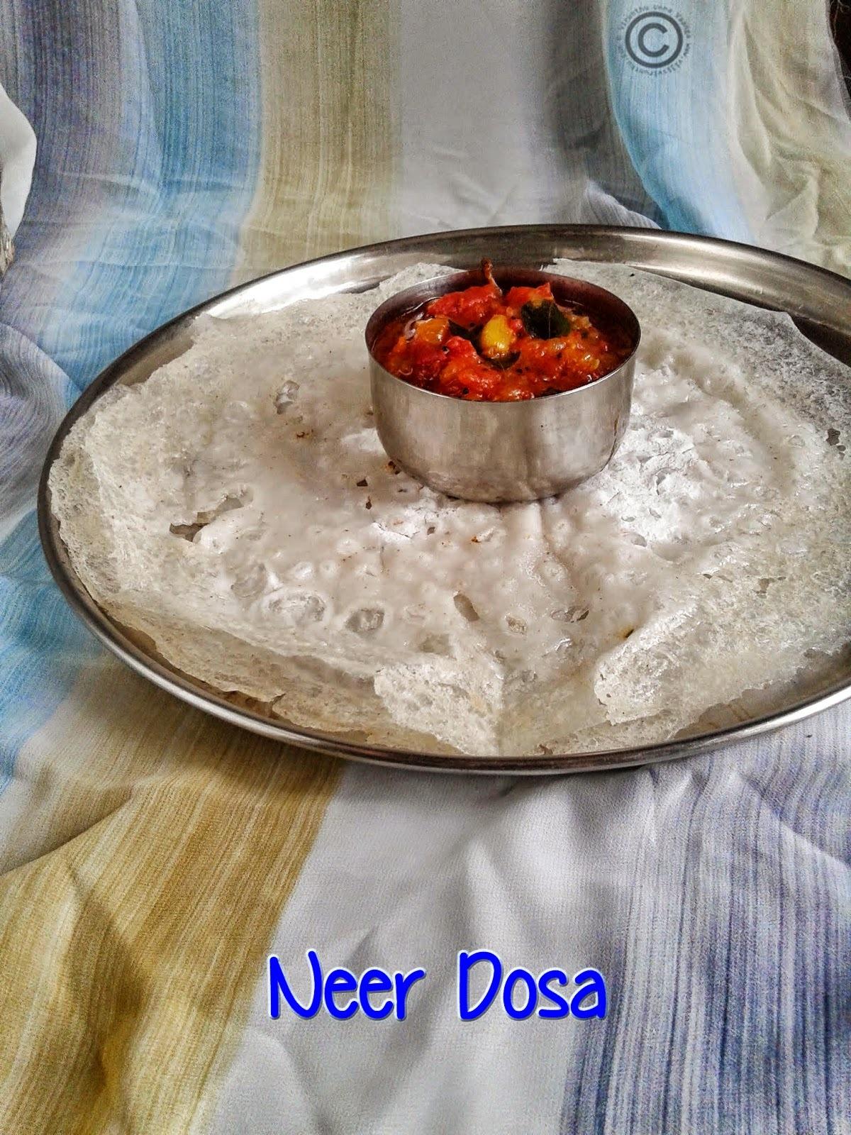 NEER DOSA I RICE COCONUT DOSA I SOUTH INDIAN BREAKFAST RECIPES