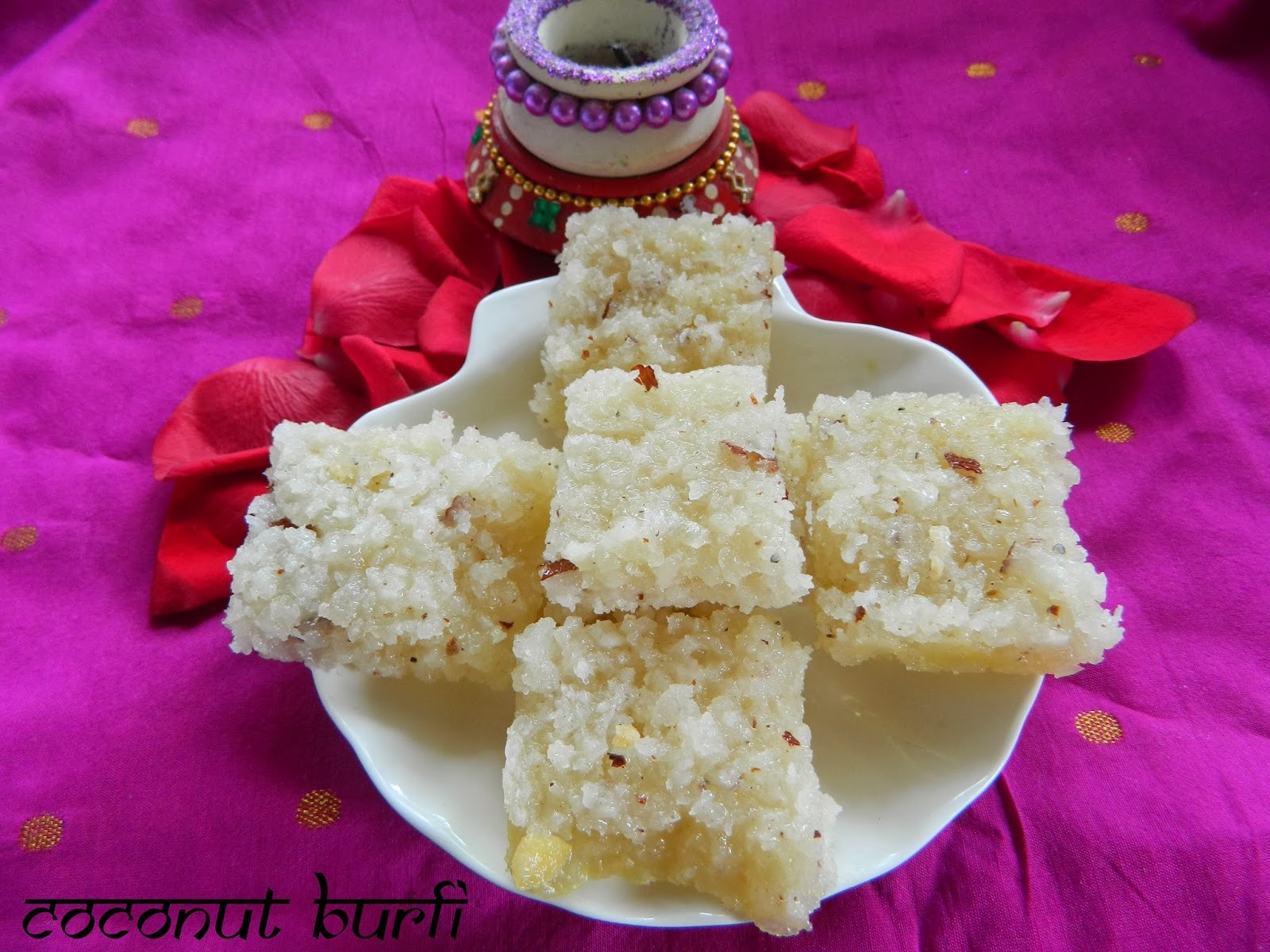 Coconut Burfi for the Diwali