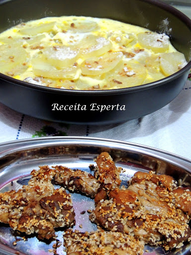 sobrecoxa crocante assada com batata