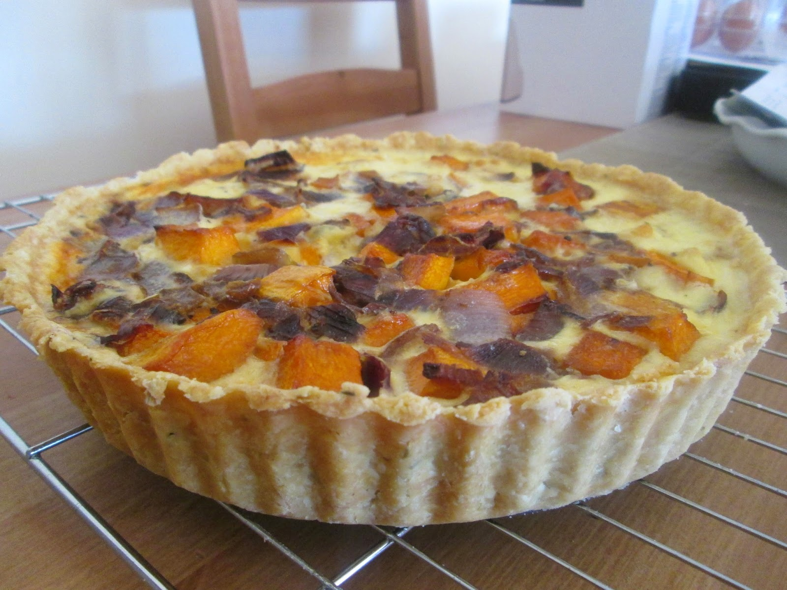 quiche with butternut squash